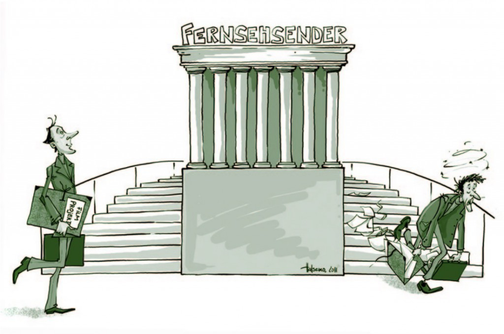 Karikatur Fernsehsender